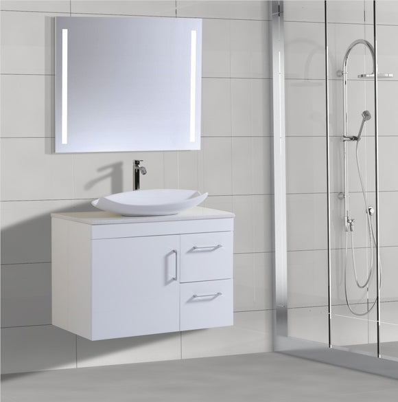 Lush Series VGN900 WHT Wall Hung,Vanities,900mm,thebathroomoutlet