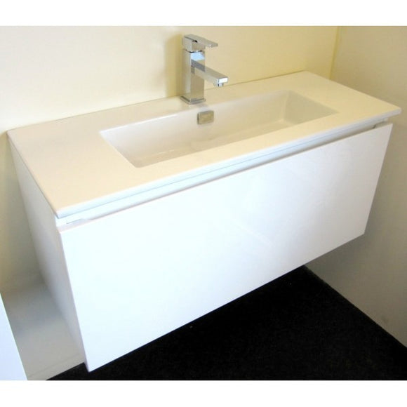 Flair Series VMI900DW WHT Wall Hung,Vanities,900mm,thebathroomoutlet