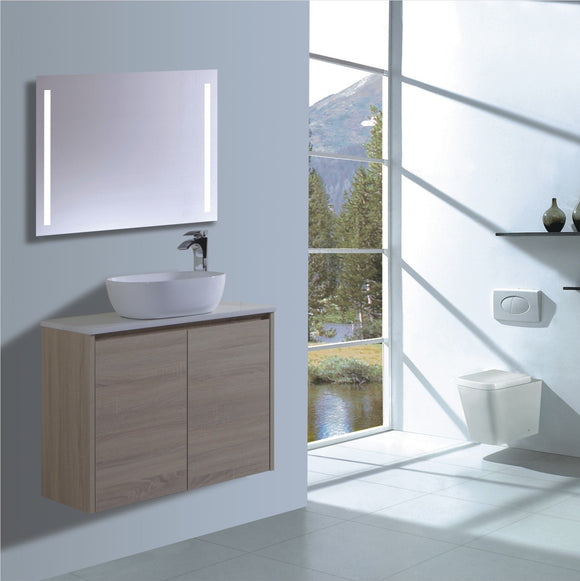 Caliber Series VMF750DR OAK Wall Hung,Vanities,750mm,thebathroomoutlet