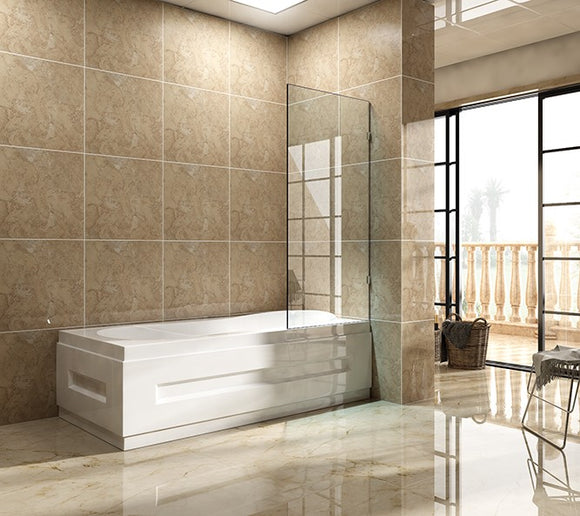 SFB Series Frameless Over-bathtub Screen 750mm SFB750,Showers,Shower Screen,thebathroomoutlet