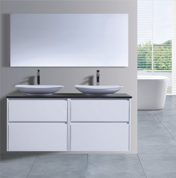 Caliber Series VMF1500DW WHT Wall Hung,Vanities,1500mm,thebathroomoutlet