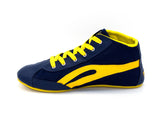 Unisex High Top Blue & Yellow