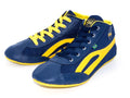 Unisex High Top Sneakers - Blue & Yellow