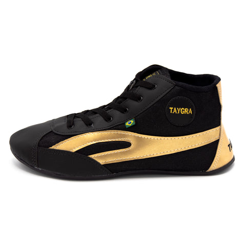 Unisex High Top Black & Gold Dance Shoes