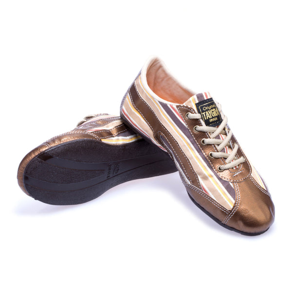 Women's Slim Bronze Flex Training Dance Sneaker