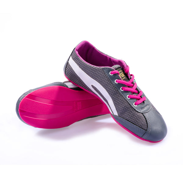 Women's Slim Gray & Pink Flex Training Dance Sneaker