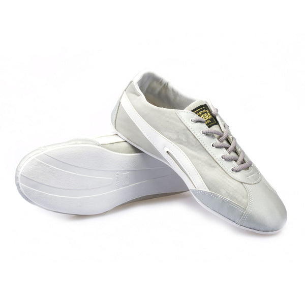 Men's Slim Gray & White Flex Training Dance Sneaker