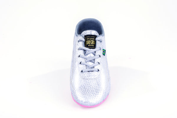 Women's Slim Silver & Pink Flex Training Dance Sneaker