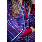 BLUE RED TWEED ABAYA - Aweea Muslim Abaya, caftans, baby turbans