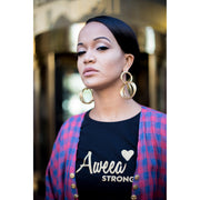 AWEEA Strong Women's t-shirt -Black - Aweea Muslim Abaya, caftans, baby turbans