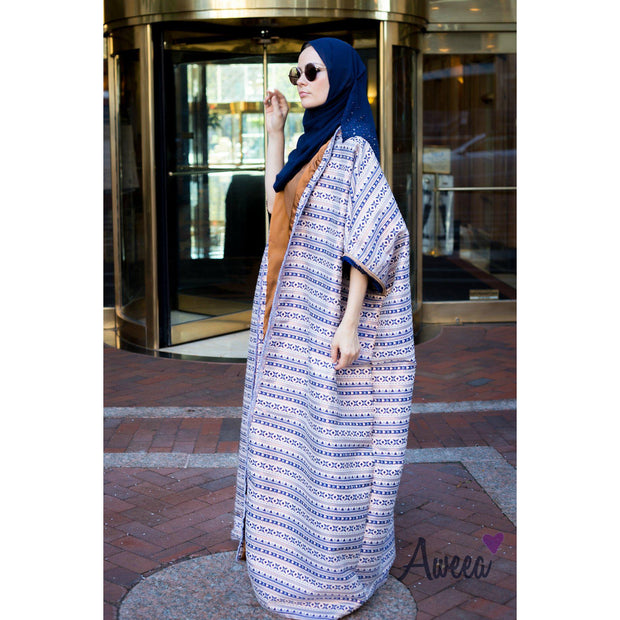 Wide Brocade Evening Cape Abaya - Aweea Muslim Abaya, caftans, baby turbans