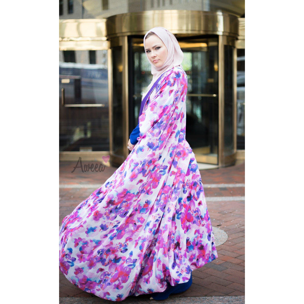 """Floral Beauty"" Evening Abaya - Aweea Abaya, caftans"