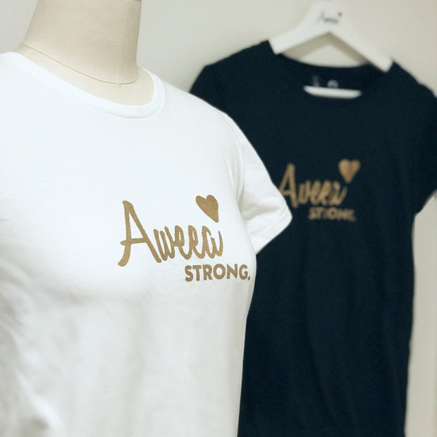 AWEEA Strong Women's T-shirt --WHITE - Aweea Muslim Abaya, caftans, baby turbans