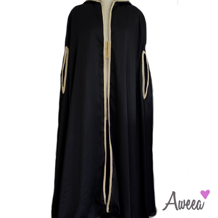 BLACK EVENING CAPE - Aweea Muslim Abaya, caftans, baby turbans