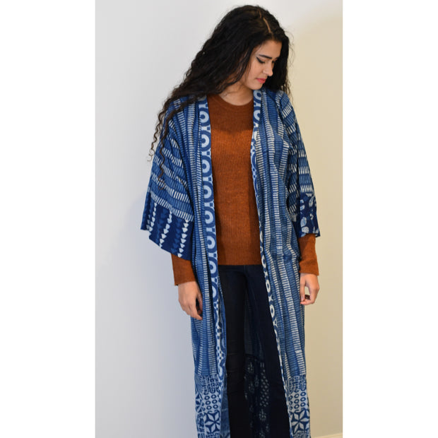 Indian block dye Open Abaya - Aweea Muslim Abaya, caftans, baby turbans