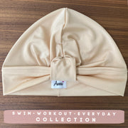 Cream Nude Swim-Workout Turban - Aweea Muslim Abaya, caftans, baby turbans