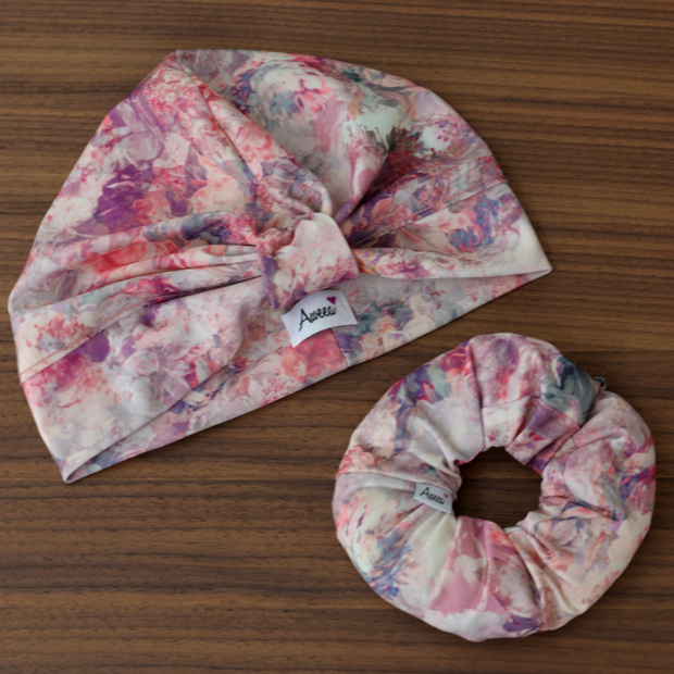 Floral Swim - Workout Turban - Aweea Muslim Abaya, caftans, baby turbans