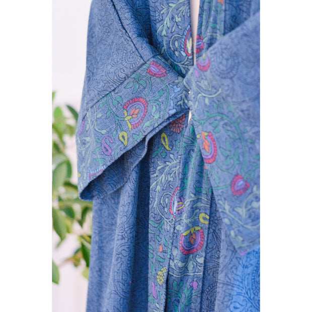 Hand painted Denim Collection Open Abaya