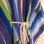 Purple neon green striped Japanese linen Caftan - Aweea Muslim Abaya, caftans, baby turbans