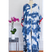 Shibori Denim Collection Open Abaya - Aweea Muslim Abaya, caftans, baby turbans