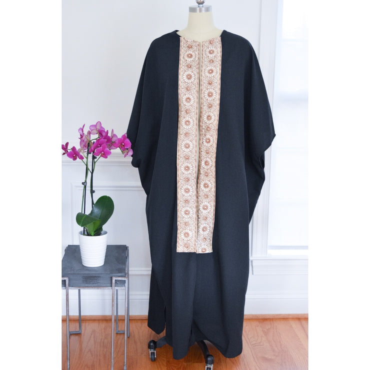 Black Bold collection open abaya - Aweea Muslim Abaya, caftans, baby turbans