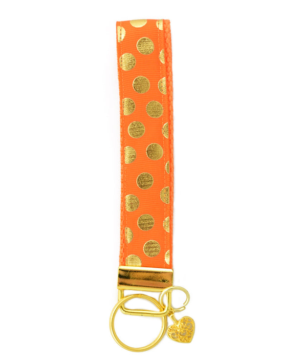 Orange  gold polka Dot wristlet - Aweea Muslim Abaya, caftans, baby turbans