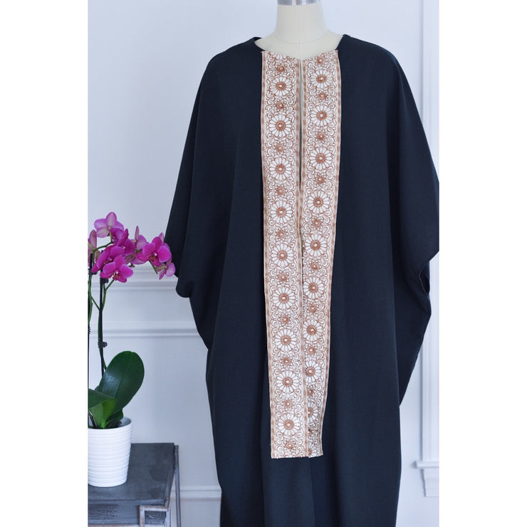 Black Bold collection open abaya