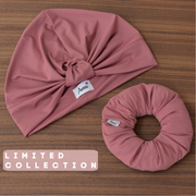 Dusty Rose Swim - Workout Turban - Aweea Muslim Abaya, caftans, baby turbans