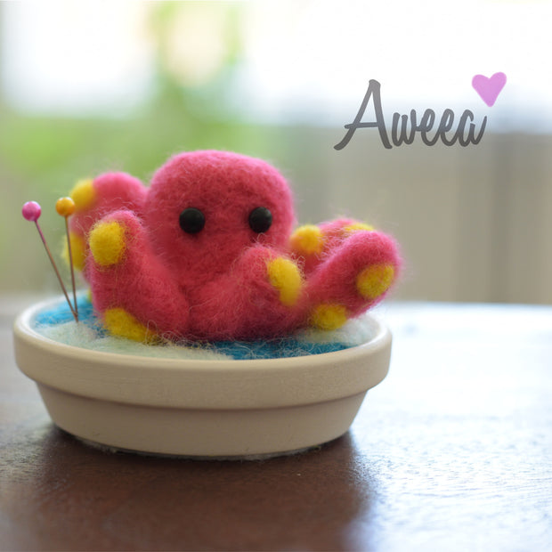 PINK OCTOPUS PIN CUSHION - Aweea Muslim Abaya, caftans, baby turbans