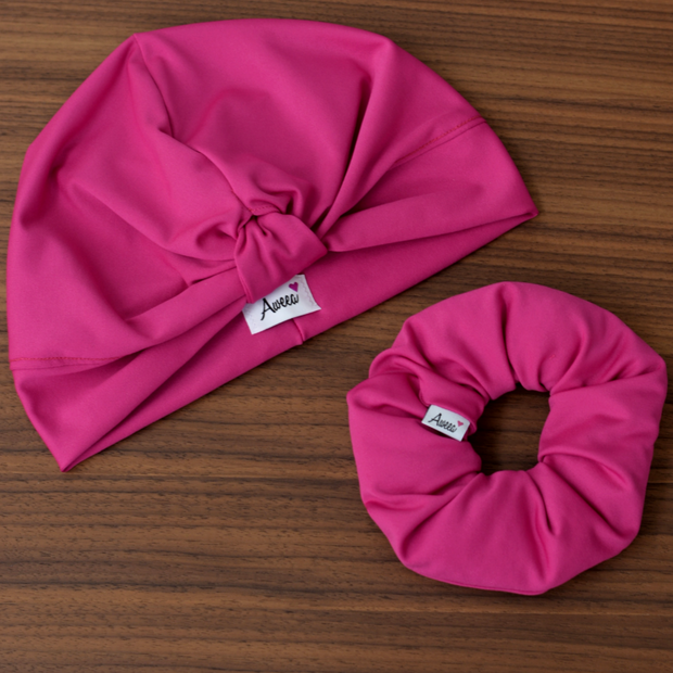 Hot Pink Swim - Workout Turban - Aweea Muslim Abaya, caftans, baby turbans