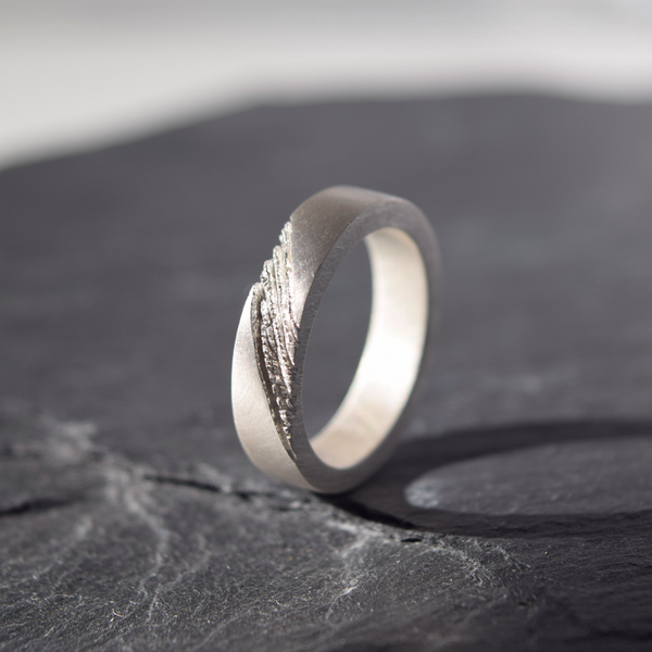 Men's Ring Inspired by Earth layers