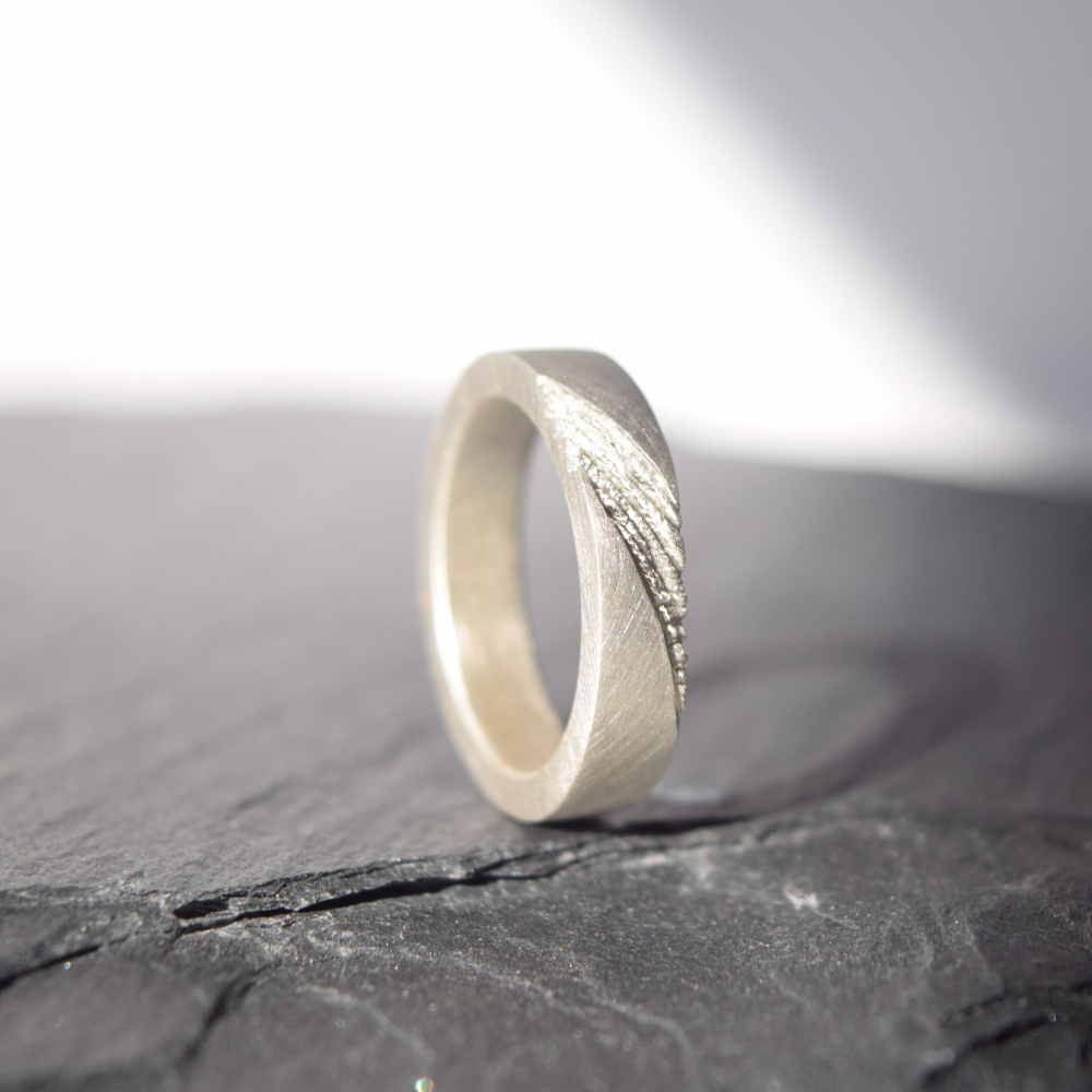 Men ring inspired by strata, nature inspired ring