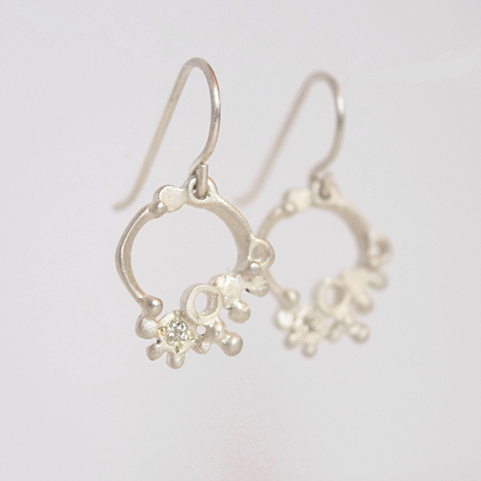 Diamond Particles Earrings, inspired nature