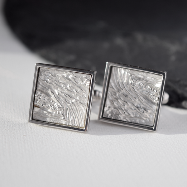 Nature inspired cufflinks, Cufflinks Inspired by Earth layers