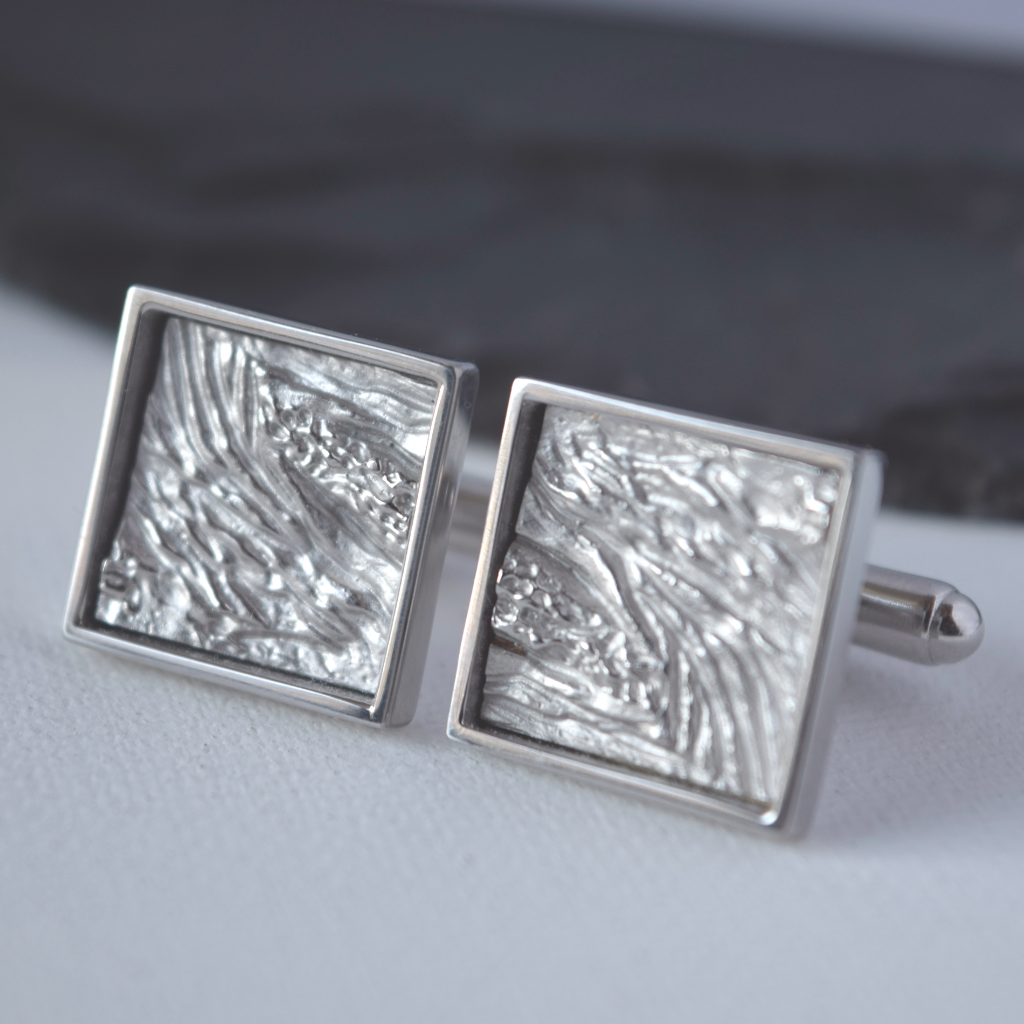 Cufflinks Inspired by Earth layers,Nature inspired cufflinks