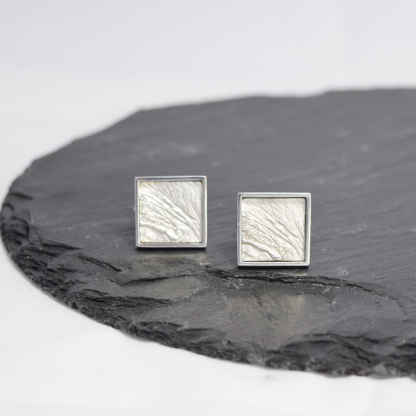 Cufflinks Inspired by Earth layers