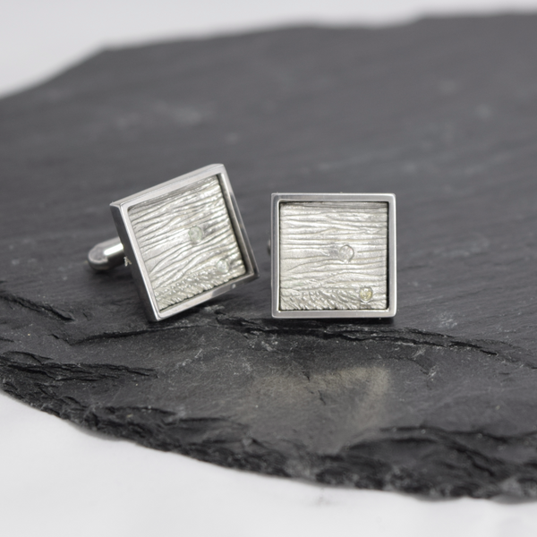 Diamond Cufflinks Inspired by Moon
