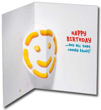 CAT GREETING CARDS (Cheese Puff/ Happy Birthday)