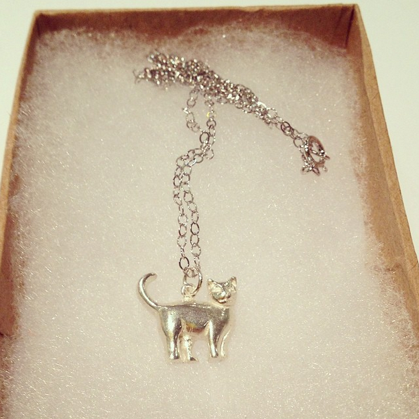CAT NECKLACE (Silver)