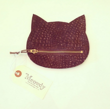 LEATHER CAT POUCH (Small/Brown)