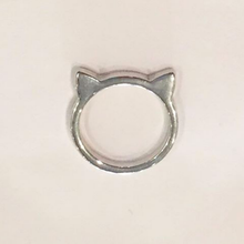 CAT RING (Large/Silver)