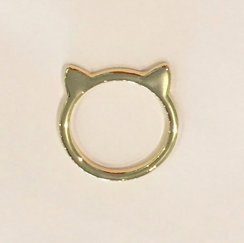 CAT RING (Large/Gold)
