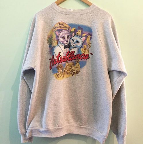 Vintage Catsablanca Sweat Shirts