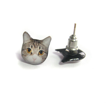 CAT EARRINGS (Tabby Cat)