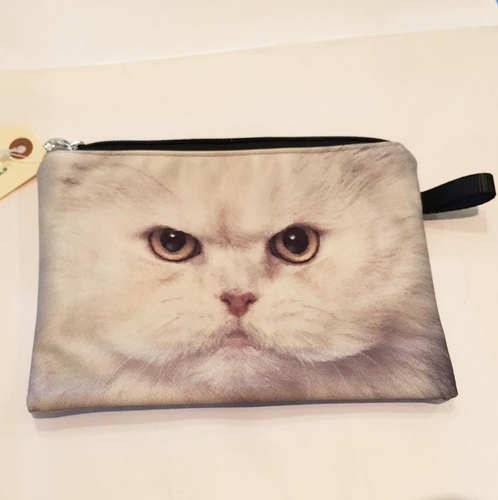 CAT POUCH (White Cat)