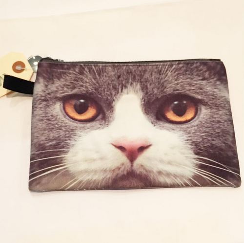 CAT POUCH (Grey Cat)