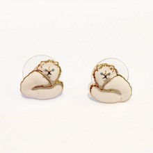 CAT ENAMEL EARRINGS (Persian)