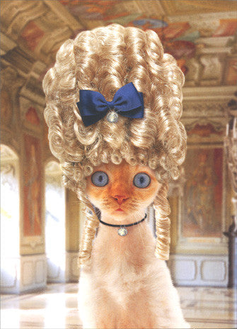 CAT GREETING CARDS (Marie Antoinette Cat/Happy Birthday)