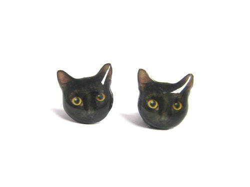 CAT EARRINGS (Black Cat)