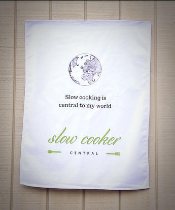 Tea Towel/Dish Cloth - SLOW COOKING IS CENTRAL TO MY WORLD
